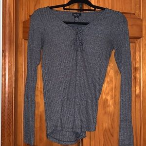 Tie Front Long Sleeve